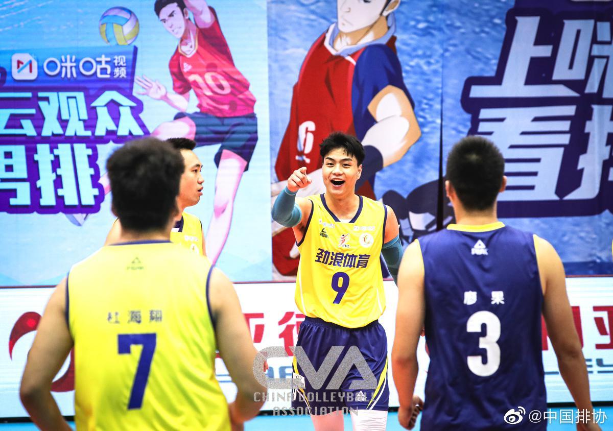 中国男排超级联赛5-8名排位赛 四川男排3-2福建