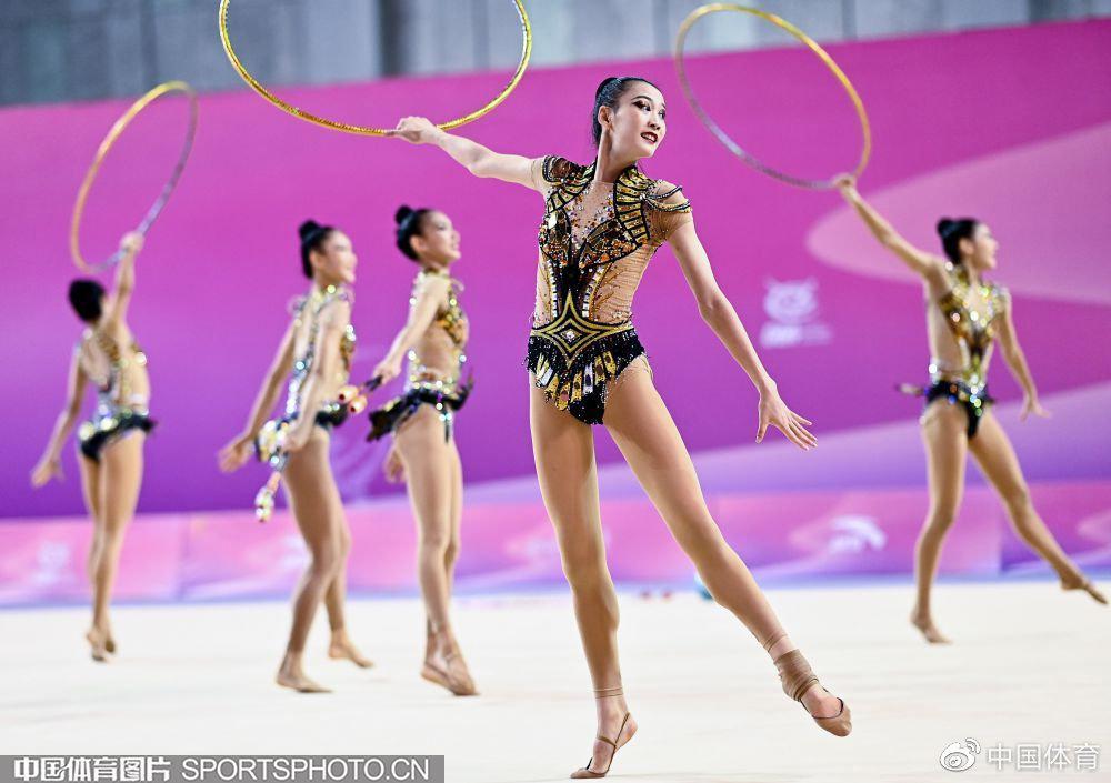全国艺术体操锦标赛次日 四川队成年集体全能折桂