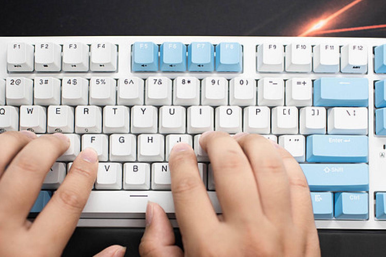 87键无线蓝牙机械键盘,杜伽K320W晴空蓝