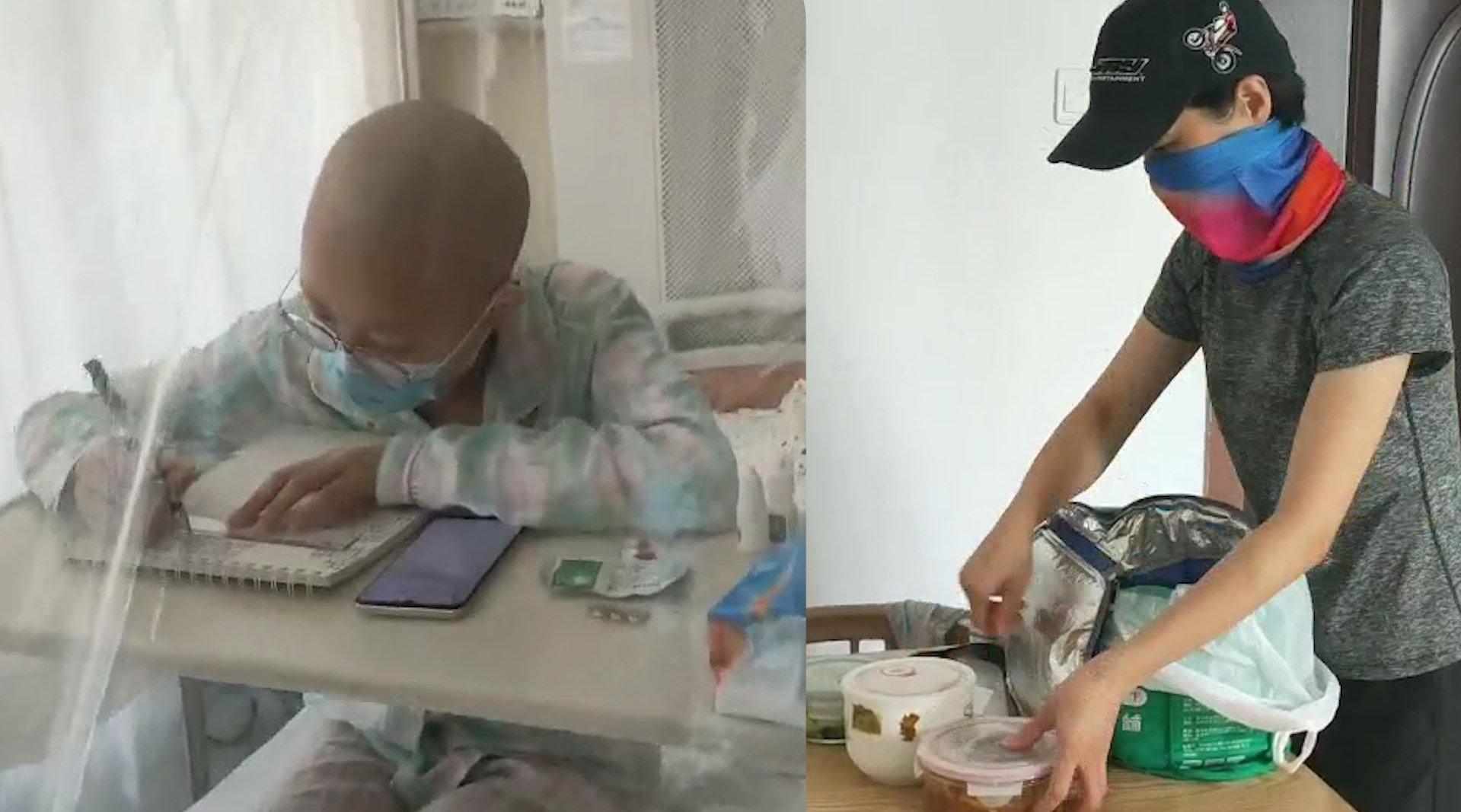 12岁单亲女孩患血癌妈妈不敢哭  父亲爷爷相继过世