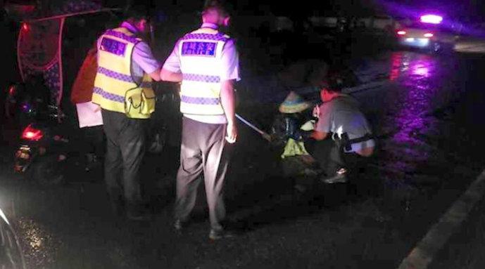 湖北男子将环卫工人撞至重伤后逃逸:民警多日蹲守将其抓获