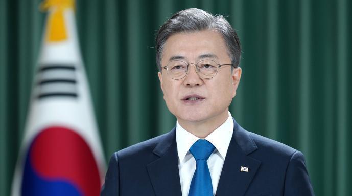 文在寅发表朝鲜半岛终战宣言:提议建东北亚防疫合作机制