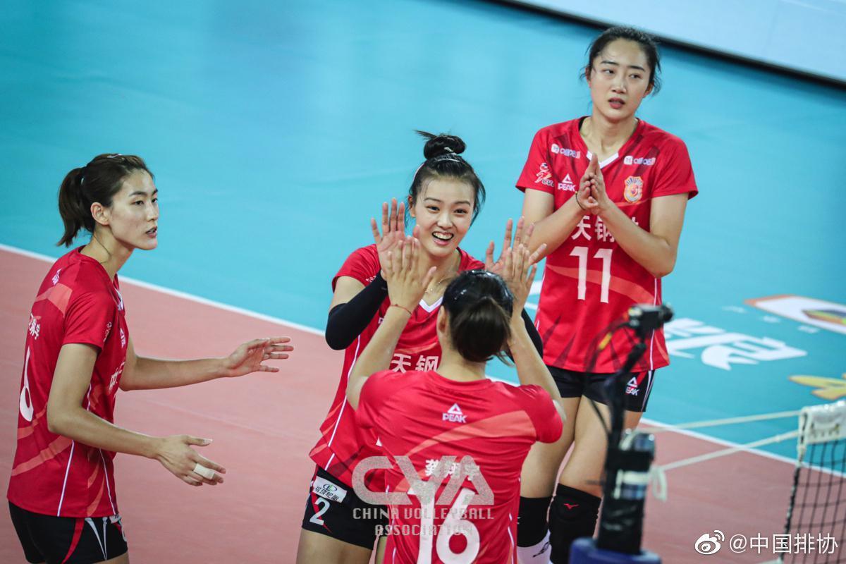 全锦赛天津女排3-2力克江苏 闯进决赛与山东争冠