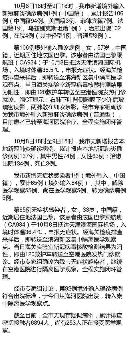 天津新增1例境外输入新冠肺炎确诊病例图片