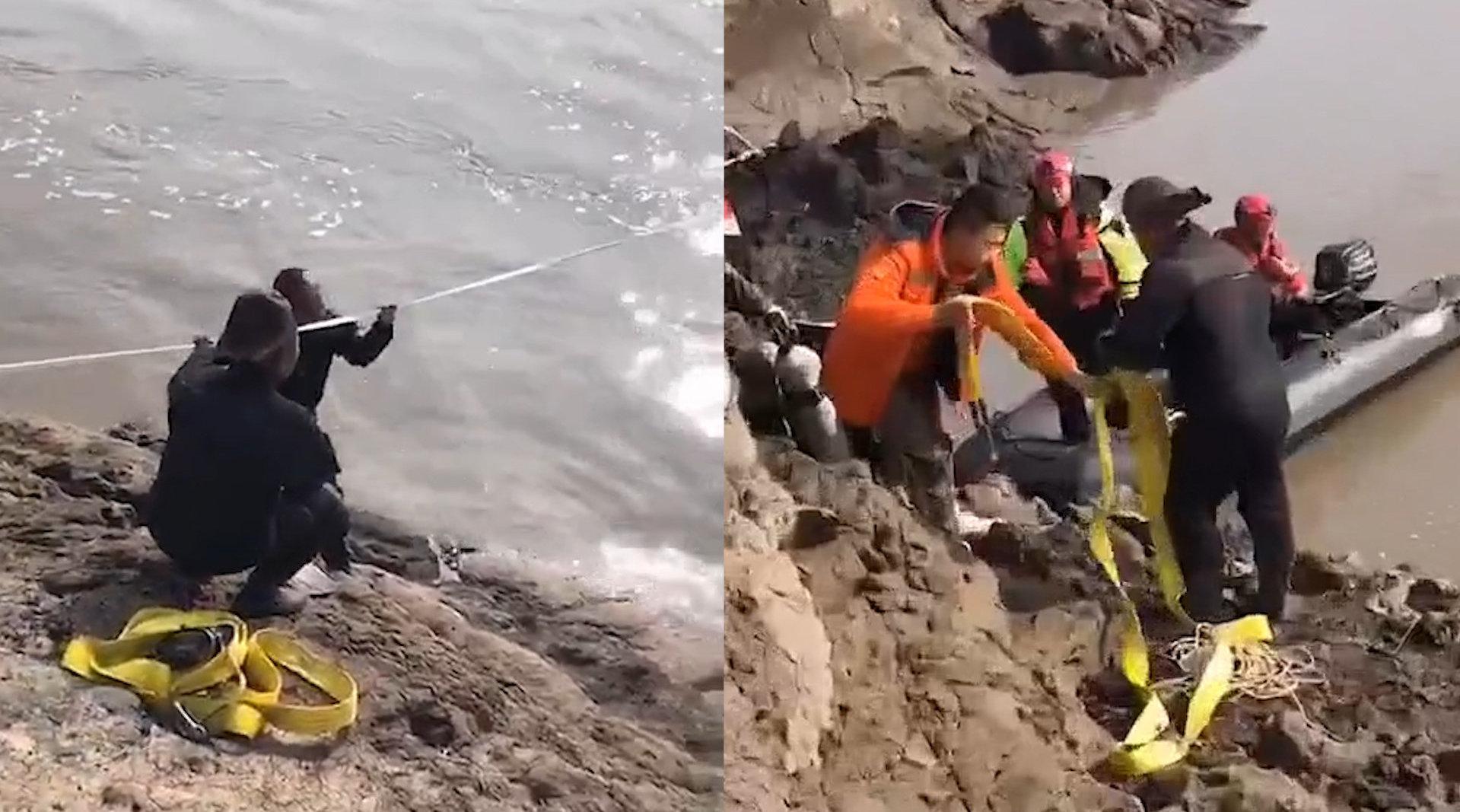 痛心!哈尔滨越野车坠入松花江3人遇难  打捞工作正在进行中