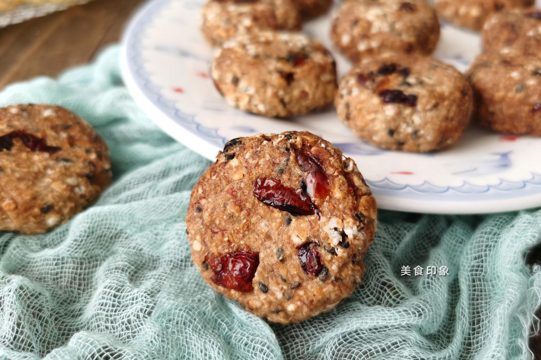 自制燕麦减肥饼干,无油无糖,简单又美味!