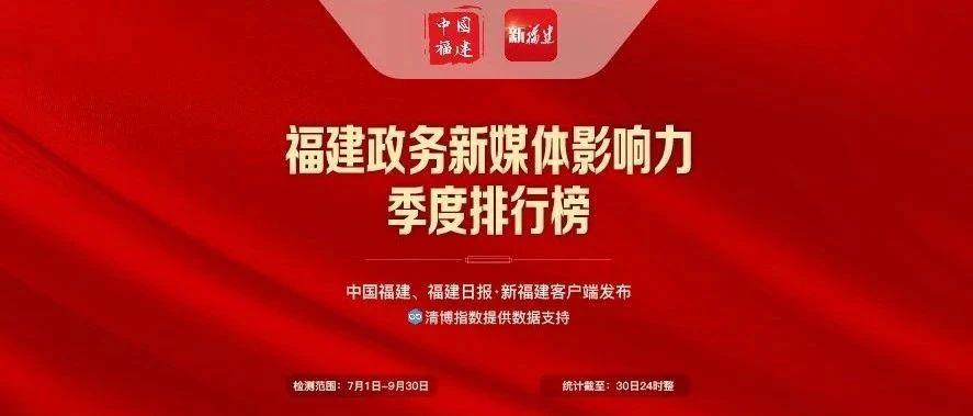 首发!福建政务新媒体季度排行榜来了!