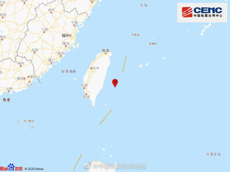 台湾台东县海域发生4.9级地震 震源深度15千米图片