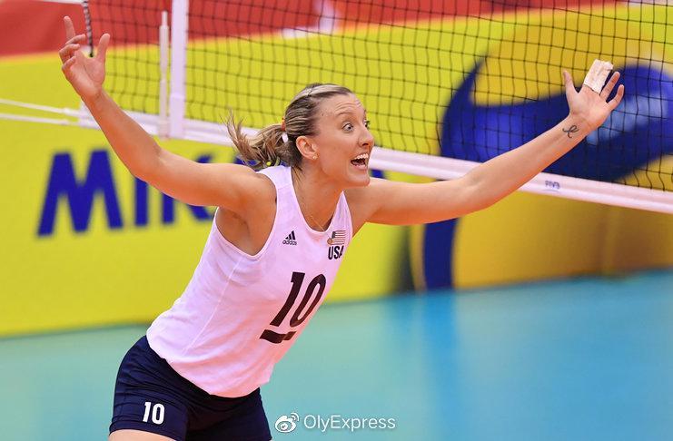 拉尔森:很高兴加盟上海 美国女排奥运目标是金牌