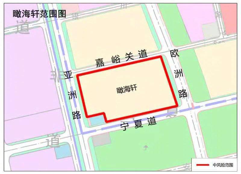 天津东疆港区瞰海轩小区调整为中风险地区图片