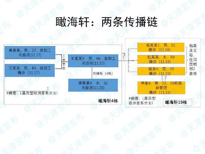 天津市疾控中心副主任张颖:病毒在瞰海轩的4号楼和19号楼之间的传播关联是这样的!图片