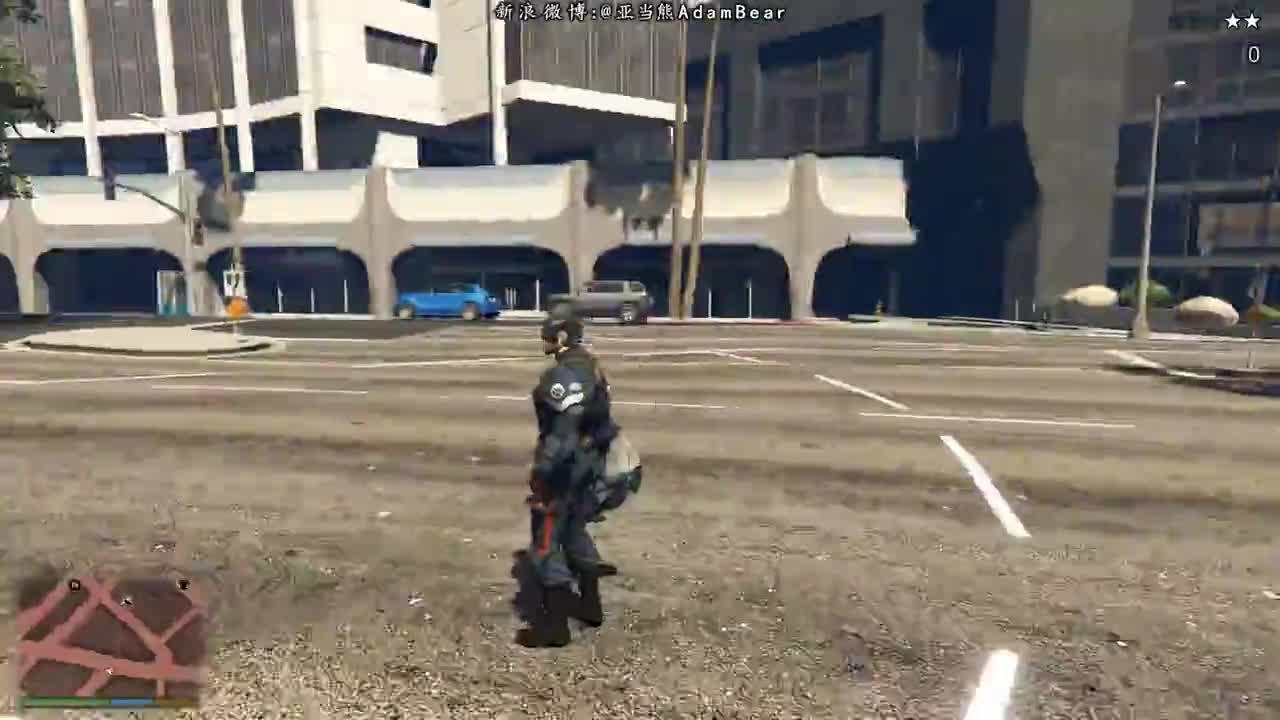 GTA5 超级英雄美国队长VS五星警察通缉究竟有多恐怖!