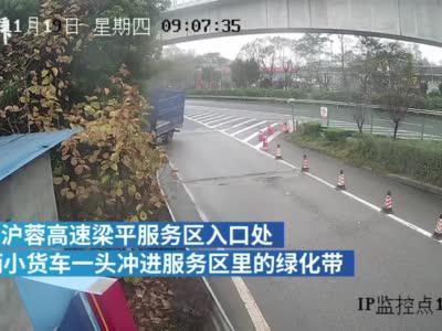 未提前减速 司机驾车冲入绿化区损失3万