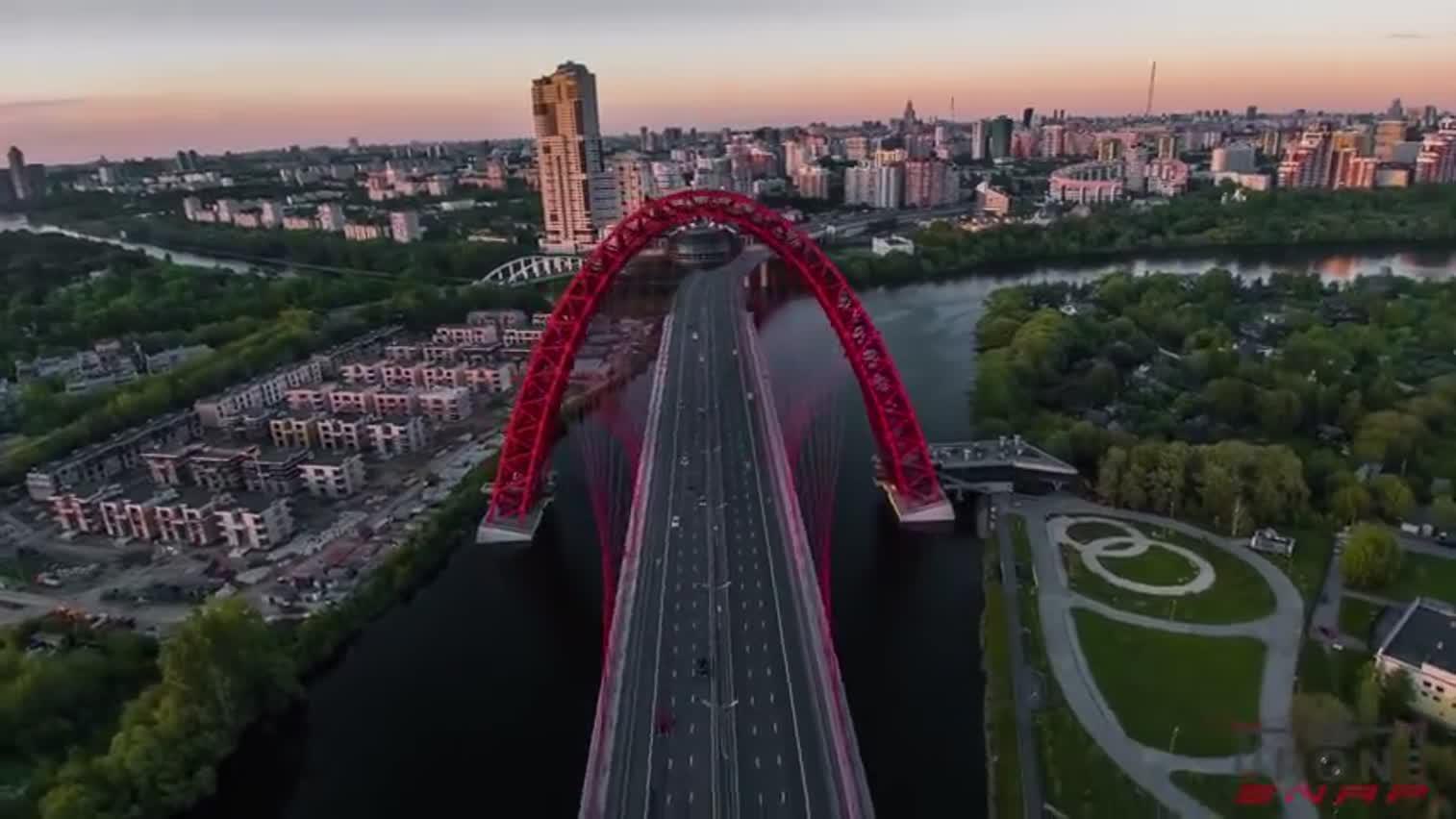 航拍俄罗斯莫斯科-无人机[4K]