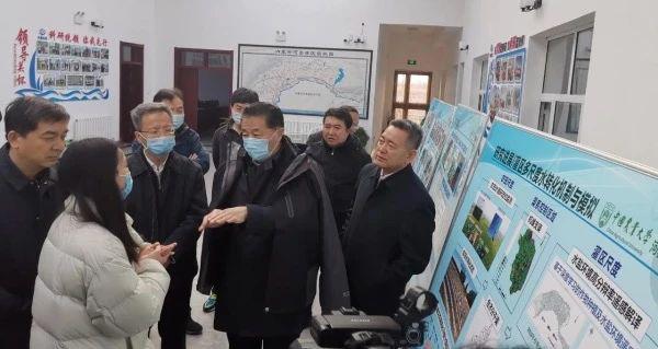 水利部部长鄂竟平到中国农大河套灌区研究院调研