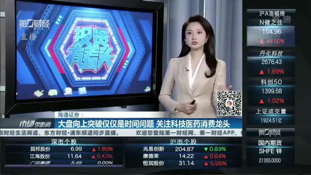 视频丨海通证券:大盘向上突破仅仅是时间的问题 关注龙头品种表现