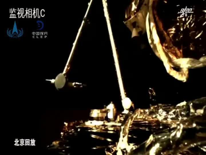 """视频来啦!嫦娥五号月球""""挖土""""打包完成"""