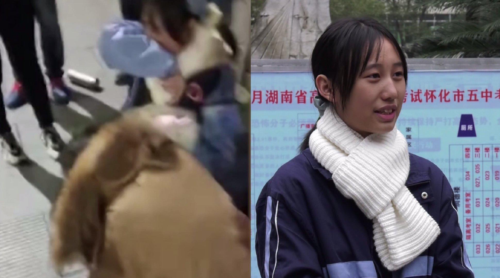 16岁女高中生劝救跳桥女孩:不救会后悔一辈子