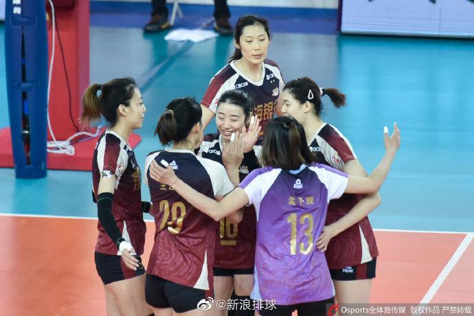 朱婷16分天津女排3-0广东 三战全胜小组头名进6强