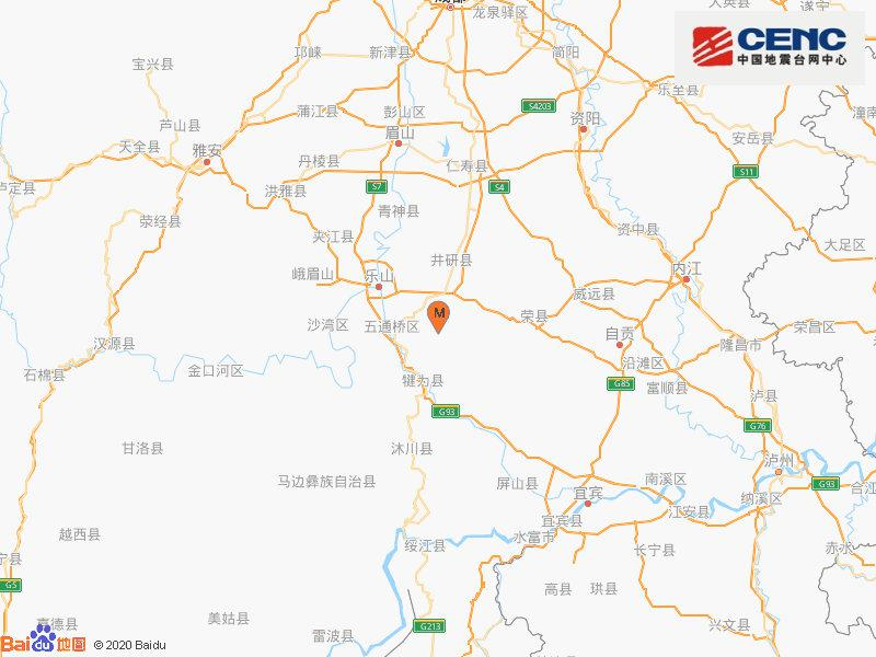 四川乐山市犍为县发生4.2级地震 震源深度13千米图片