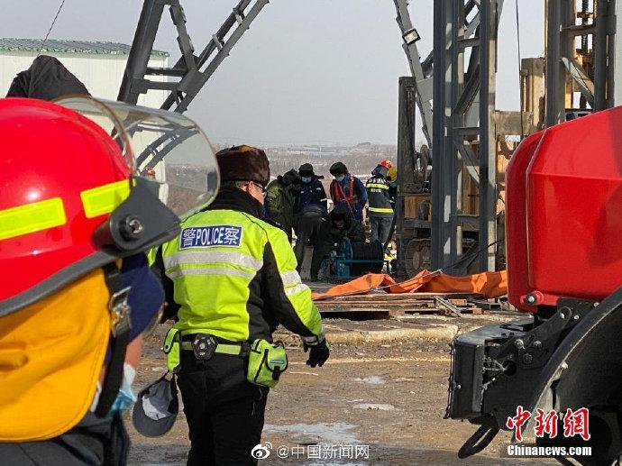山东栖霞笏山金矿爆炸事故:救援情况复杂、难度较大、任务艰巨图片