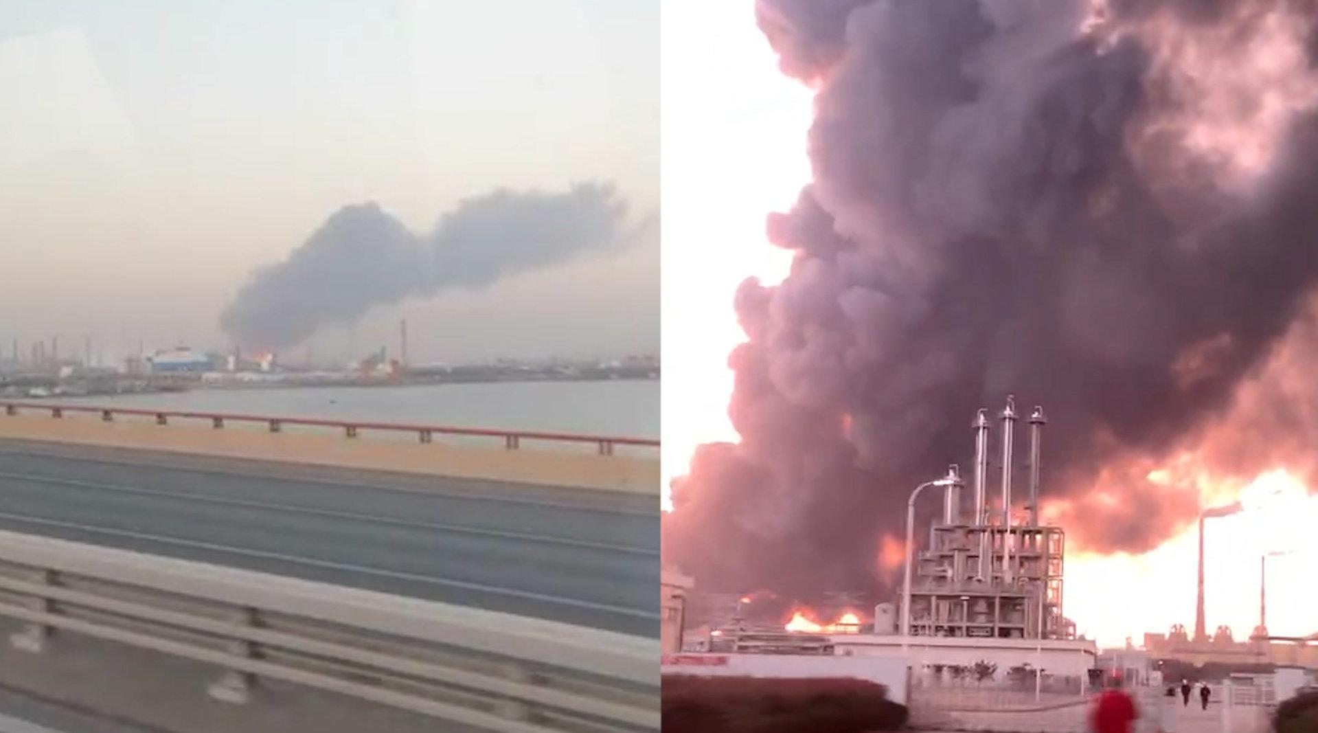 南京扬子石化丁苯装置起火爆炸  消防紧急前往处置暂无伤亡报告