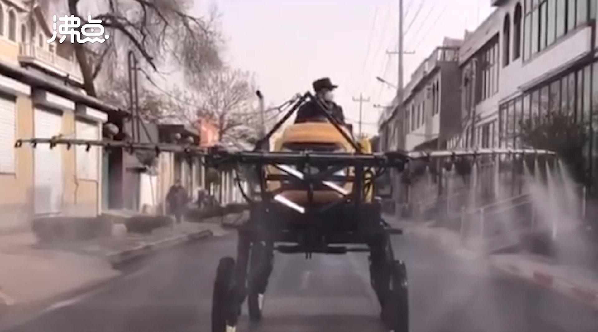 直击石家庄藁城区消杀现场