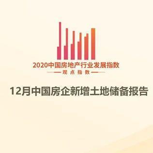 1-12月中国房企新增土地储备报告·观点月度指数