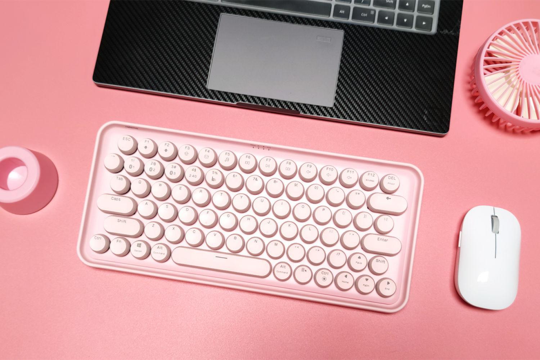 仙女级元气机身,雷柏无线机械键盘开箱