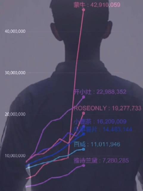 肖战代言品牌的可视化数据