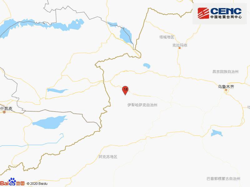 新疆伊犁州伊宁县发生3.3级地震 震源深度16千米图片