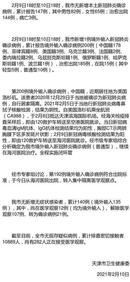 天津新增1例境外输入确诊病例图片