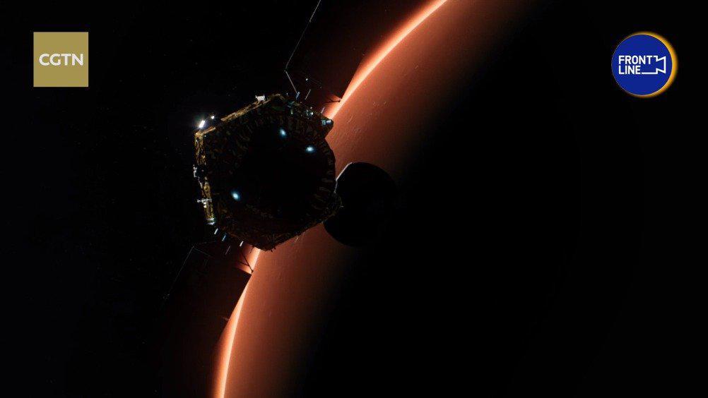 天问一号探测器实施火星捕获