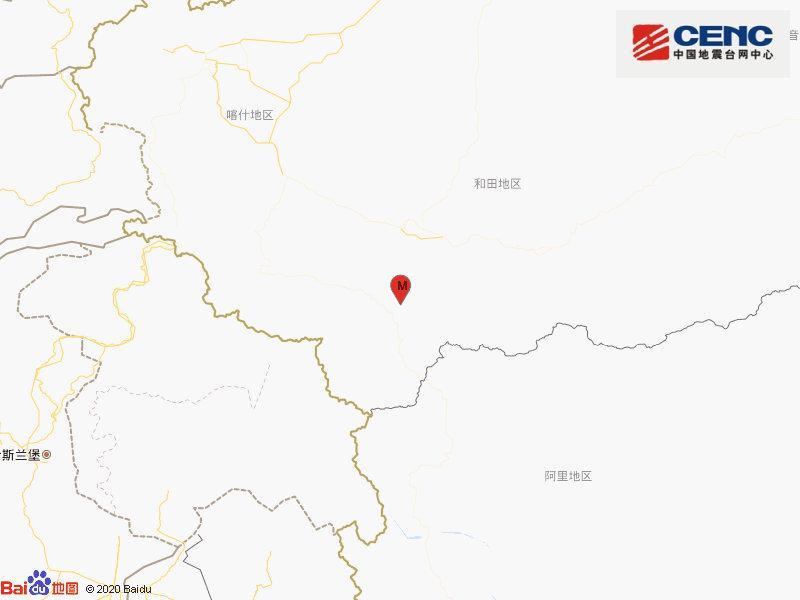 新疆和田地区和田县发生3.1级地震 震源深度8千米图片