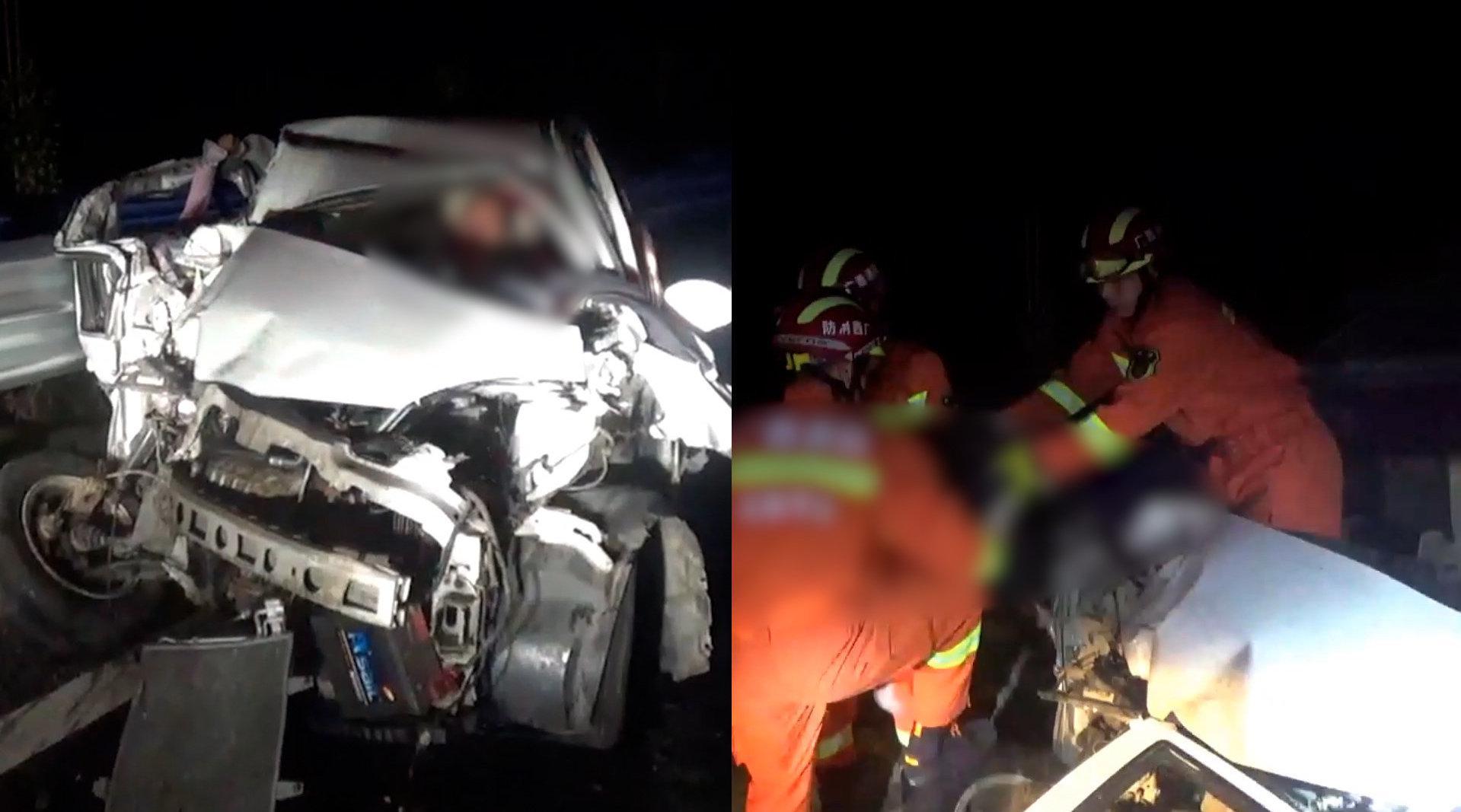 广西玉林高速车祸2死1伤