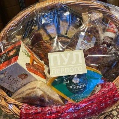 卢卡申科送了普京一篮子食物