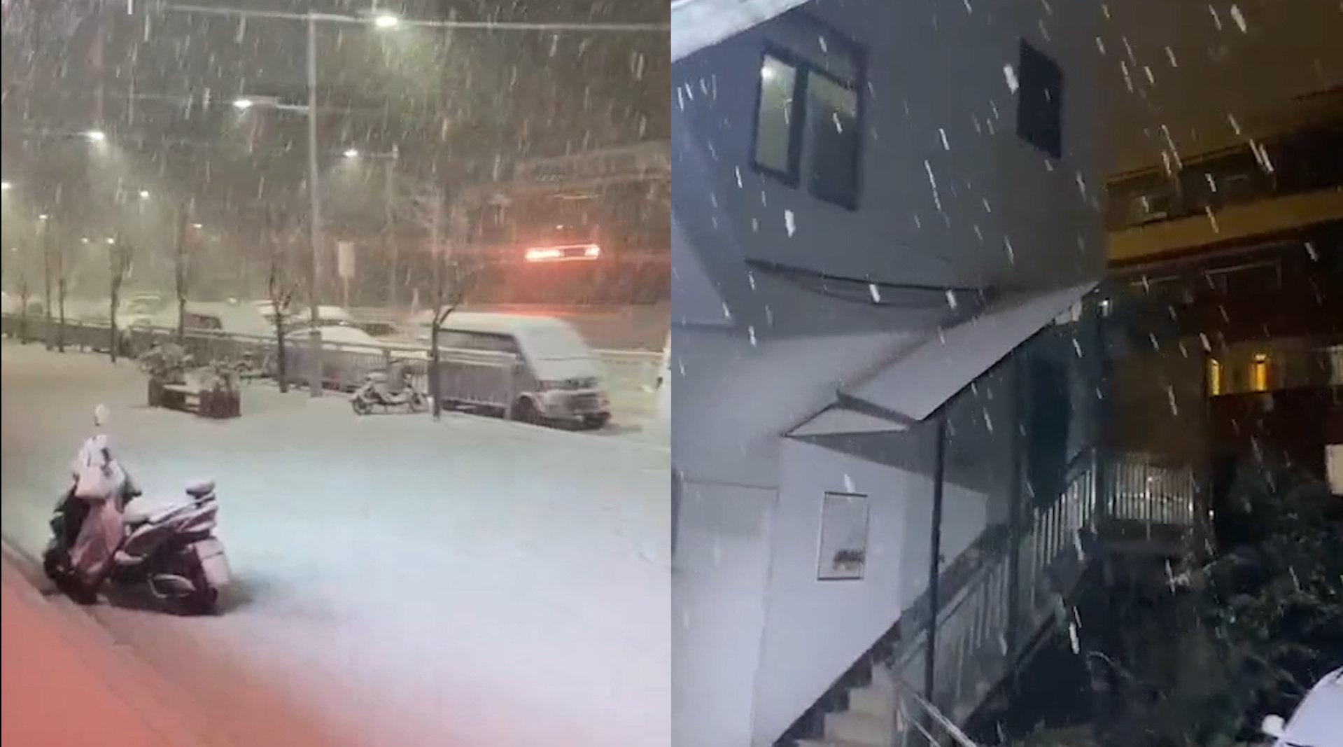 郑州下起鹅毛大雪