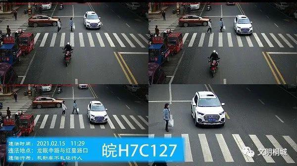 桐城交通违法和不文明交通行为曝光台(第八十七期)