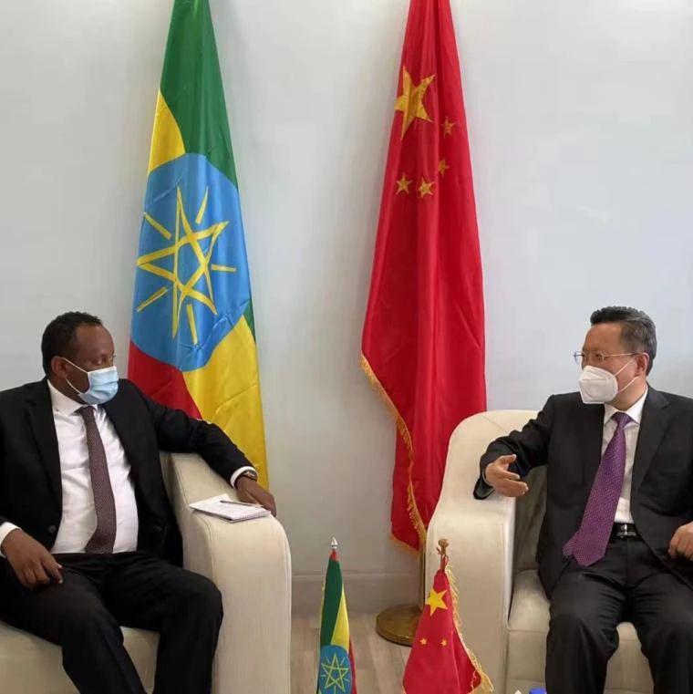 驻埃塞俄比亚大使拜会埃塞创新和技术部长亚伯拉罕