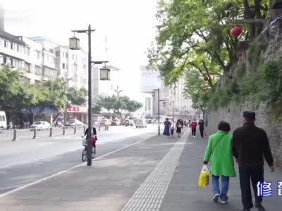 """260岁的崇庆州城墙""""焕然一新"""" 再现昔日风采"""