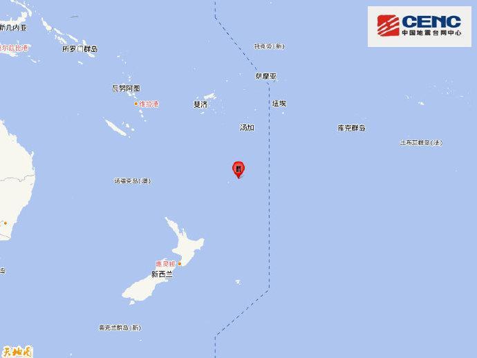 新西兰克马德克群岛发生6.0级地震,震源深度10千米