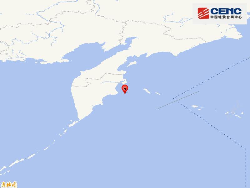 堪察加东岸远海附近发生6.2级左右地震