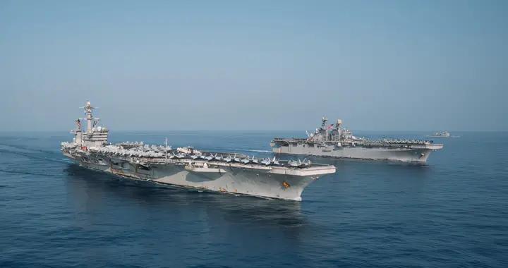美军两栖戒备大队进入南海后,立即与航母战斗群联合演习