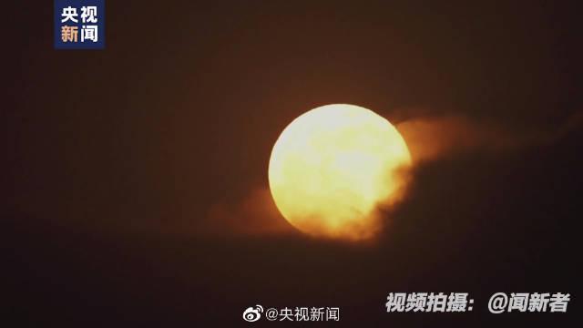看超级月亮升空