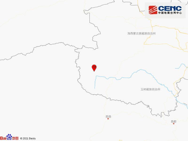青海海西州唐古拉地区发生3.9级地震 震源深度7千米图片