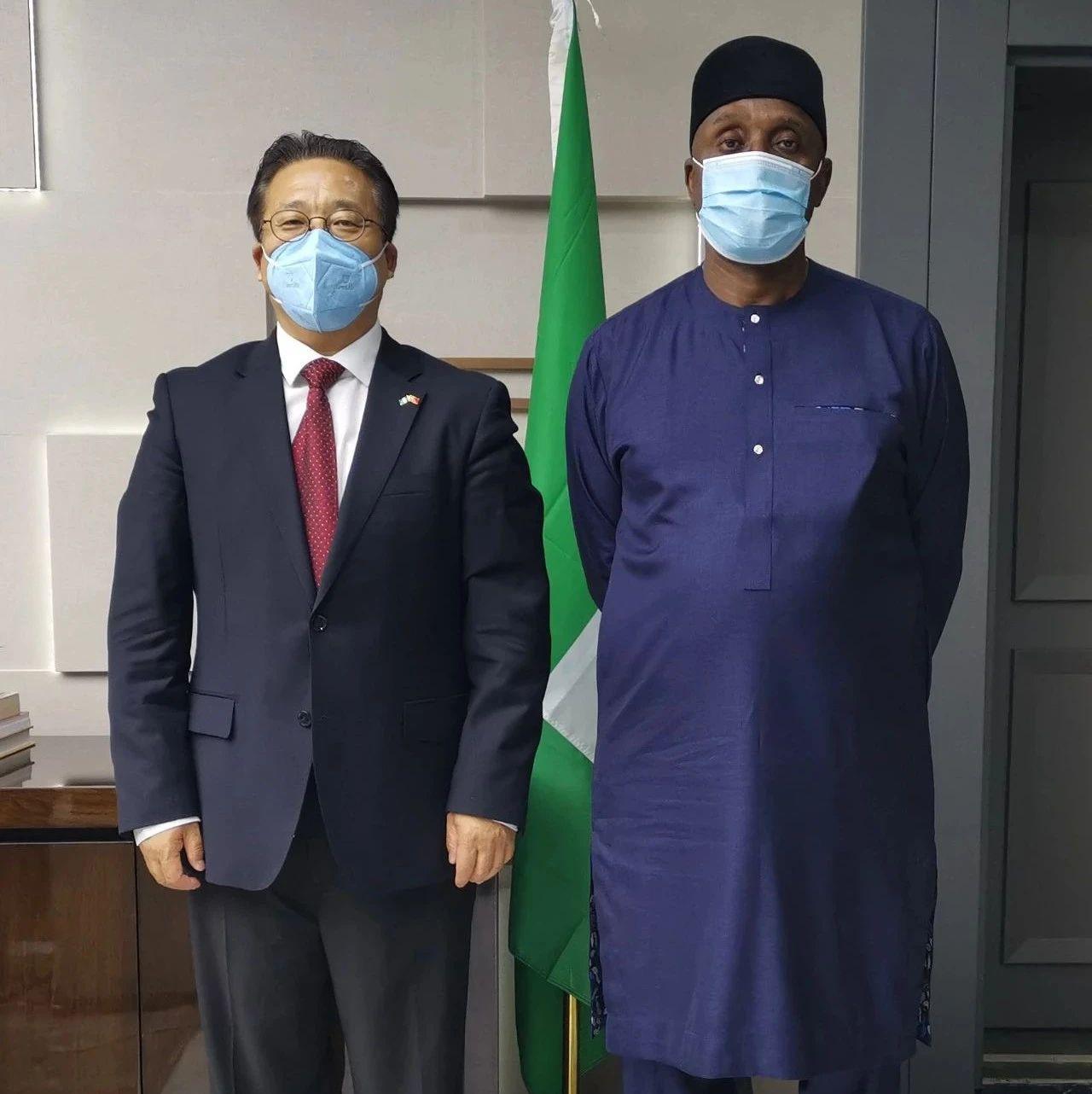 驻尼日利亚大使到任拜会尼交通运输部长阿玛埃奇
