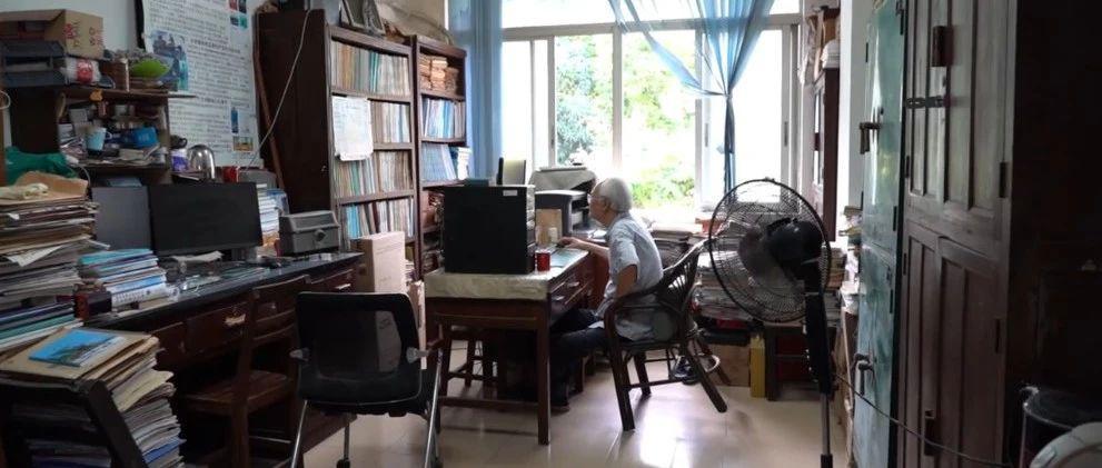 """86岁学者著中国南海""""百科全书"""",至今每天5点开始工作"""