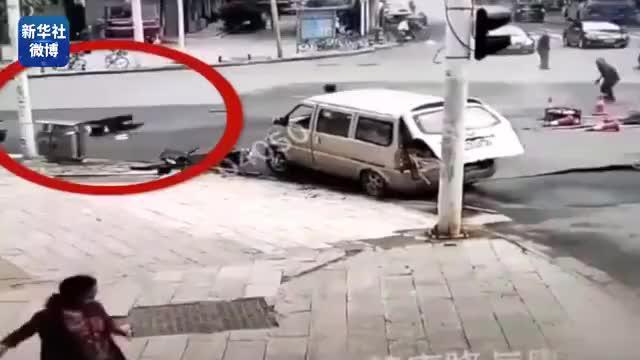 武汉一路面发生爆炸致4人受伤