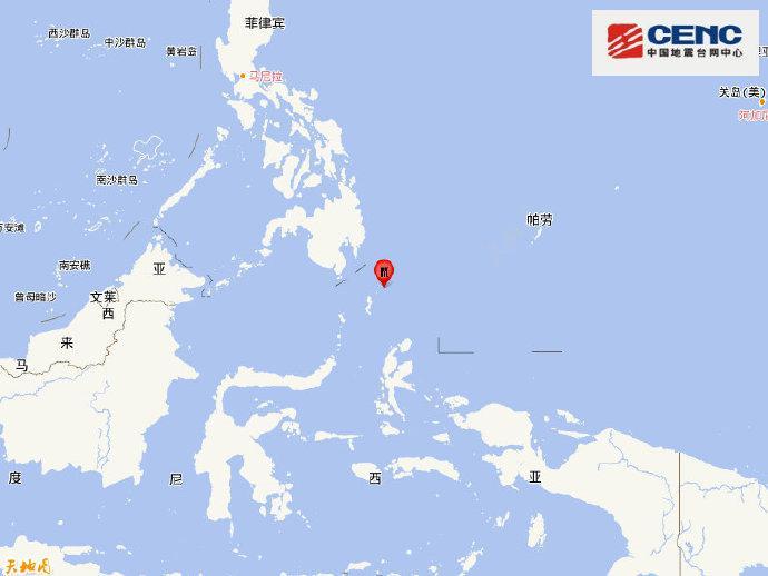 印尼塔劳群岛发生5.5级地震,震源深度120千米