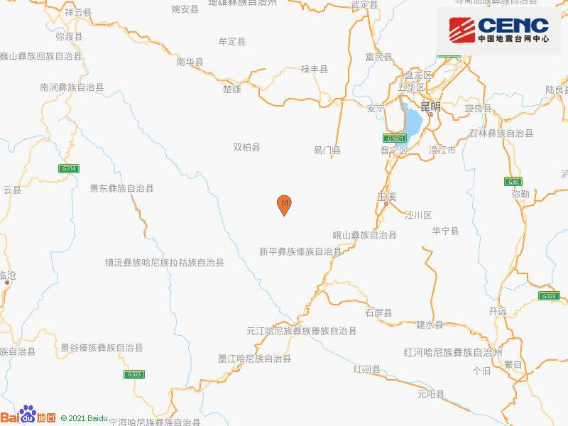 云南楚雄州双柏县发生4.6级地震 震源深度8千米
